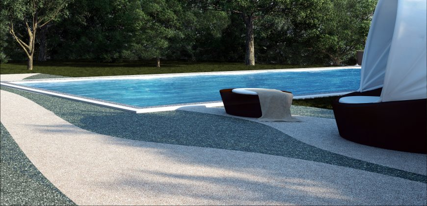 Pool boden boden f r pool outdoor steinteppich pool for Pool im boden